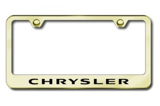 Autogold® - Laser Etched Chrysler Logo on Gold Frame