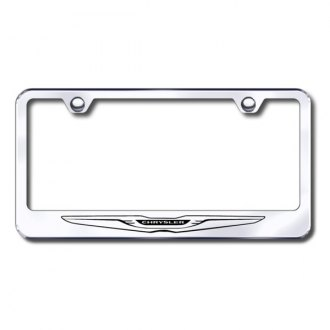 Autogold® - Chrysler Laser Etched Logo on Stainless Steel Frame