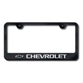 Autogold® - License Plate Frame with Laser Etched Chevrolet Logo