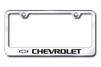 Autogold® - Laser Etched Chevy Logo on Stainless Steel Frame