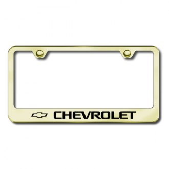 Autogold® - Laser Etched Chevy Logo on Gold Frame