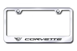 Autogold® - Laser Etched Corvette C5 Logo on Stainless Steel Frame