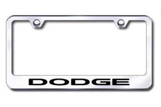 Autogold® - Laser Etched Dodge Logo on Chrome Metal Frame