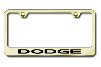 Autogold® - Laser Etched Dodge Logo on Gold Frame