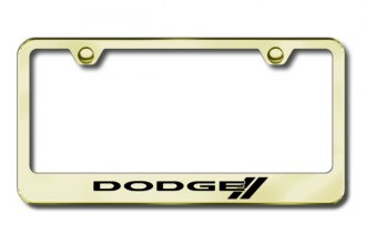 Autogold® - Dodge Stripes Logo on Gold Frame