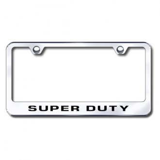 Autogold® - Laser Etched Super Duty Logo on Chrome Metal Frame