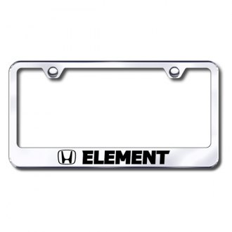 Autogold® - Laser Etched Element Logo on Chrome License Frame