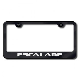 Autogold® - Laser Etched Escalade Logo on Black Frame