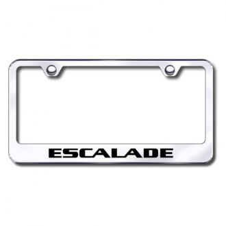 Autogold® - Laser Etched Escalade Logo on Chrome Metal Frame