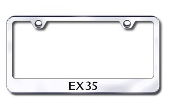 Autogold® - Laser Etched EX35 Logo on Chrome Metal Frame