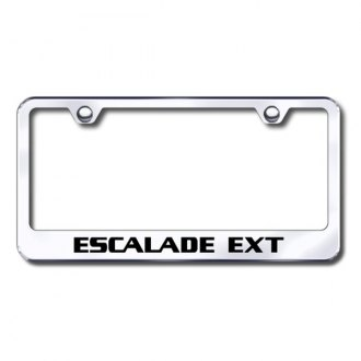 Autogold® - Laser Etched Escalade EXT Logo on Chrome Frame