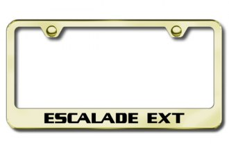 Autogold® - Laser Etched Escalade EXT Logo on Gold Frame