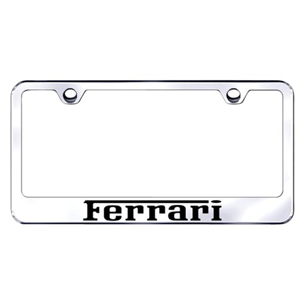 Autogold® - License Plate Frame with Laser Etched Ferrari Logo