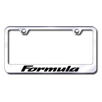 Autogold® - Formula Laser Etched Logo on Chrome Frame