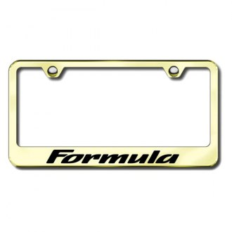 Autogold® - Formula Laser Etched Logo on Gold Frame