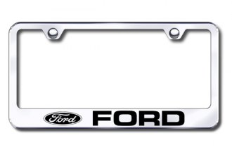 Autogold® - Laser Etched Ford Logo on Chrome Metal Frame