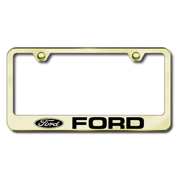 Autogold® - Ford Logo on Gold Frame