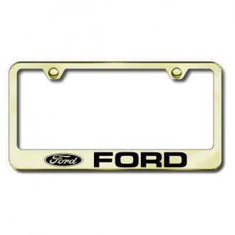 Autogold® - Ford Laser Etched Logo on Gold Frame