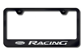 Autogold® - Ford Racing Logo on Black License Plate Frame