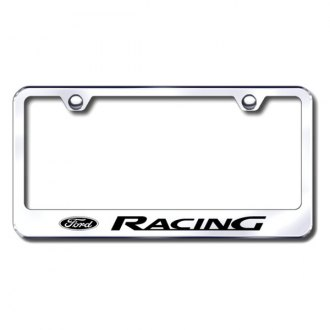 Autogold® - Ford Racing Laser Etched Logo on Chrome License Frame