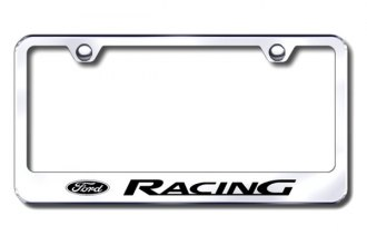 Autogold® - Ford Racing Logo on Chrome License Plate Frame