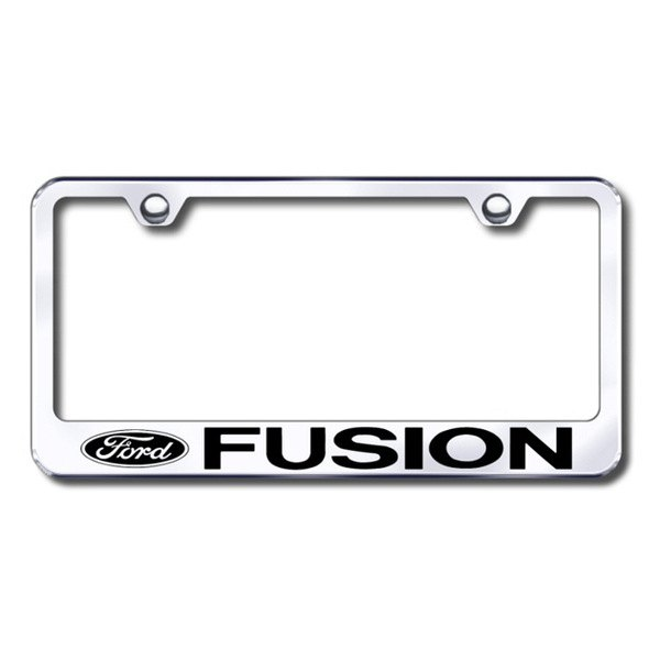 Autogold® - Laser Etched Fusion Logo on Chrome Metal Frame