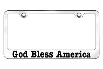 Autogold® - God Bless America Laser Etched Logo on Chrome Frame