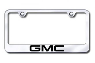 Autogold® - Laser Etched GMC Logo on Chrome Metal Frame