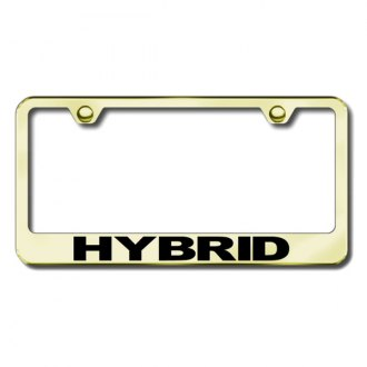 Autogold® - Hybrid Laser Etched Logo on Gold License Frame