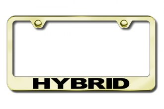 Autogold® - Hybrid Logo on Gold License Plate Frame