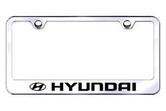 Autogold® - Laser Etched Hyundai Logo on Chrome Metal Frame