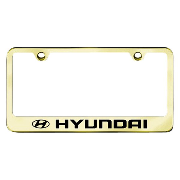 Autogold® - License Plate Frame with Laser Etched Hyundai Logo