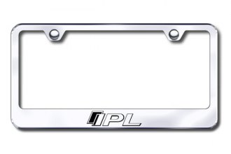Autogold® - Laser Etched IPL Logo on Chrome Frame