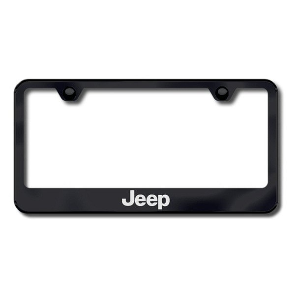 Autogold® - Laser Etched Jeep Logo on Black Frame