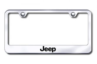 Autogold® - Laser Etched Jeep Logo on Chrome Metal Frame