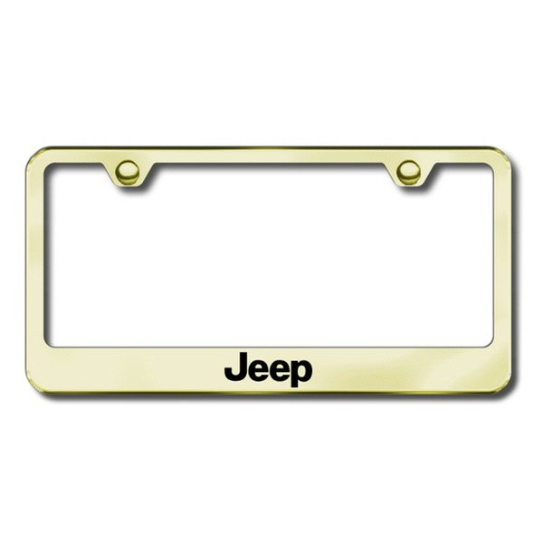 Autogold® - Laser Etched Jeep Logo on Gold Frame