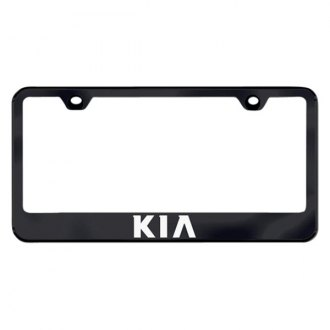 Autogold® - Kia Laser Etched Logo on Black Frame