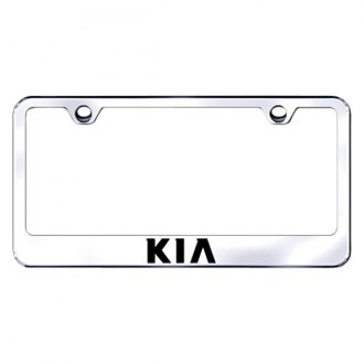Autogold® - Chrome License Plate Frame with Laser Etched Kia Logo