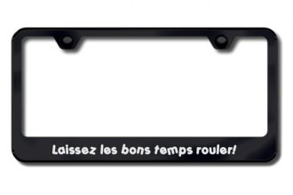 Autogold® - Laissez Logo on Black License Plate Frame