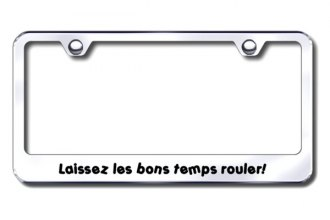 Autogold® - Laissez Logo on Chrome License Plate Frame