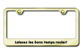 Autogold® - Laissez Logo on Gold License Plate Frame