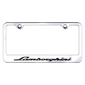 Autogold® - License Plate Frame with Laser Etched Lamborghini Logo