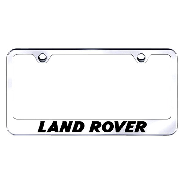 Autogold® LF.LAN.EC - Chrome License Plate Frame with Laser Etched ...