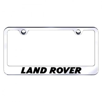 Autogold® - Land Rover Laser Etched Logo on Chrome Metal Frame