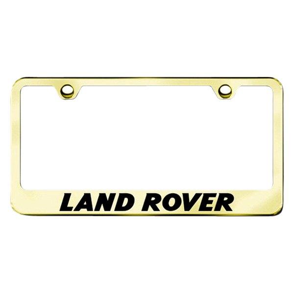 Autogold® LF.LAN.EG - Gold License Plate Frame with Laser Etched ...