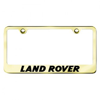 Autogold® - Gold License Plate Frame with Laser Etched Land Rover Logo
