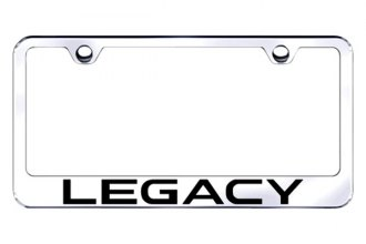 Autogold® - Legacy Logo on Chrome License Plate Frame