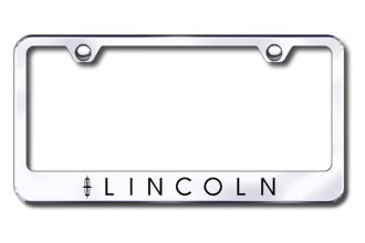 Autogold® - Laser Etched Lincoln Logo on Chrome Metal Frame