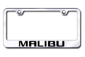 Autogold® - Laser Etched Malibu Logo on Chrome Frame