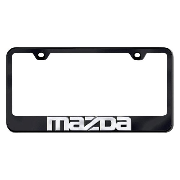 Autogold® - License Plate Frame with 3D Mazda Logo